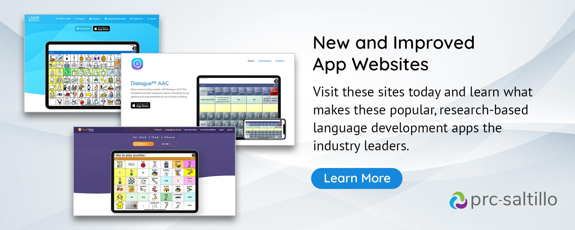 New and improved app websites