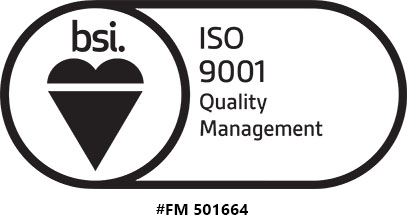 seal and registration number for ISO 9001 certification