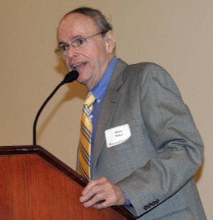 Bruce Baker giving a speech