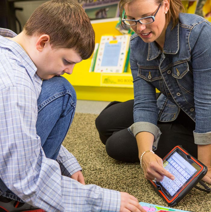 PRC's portable communication devices allow children with autism the ability to communicate