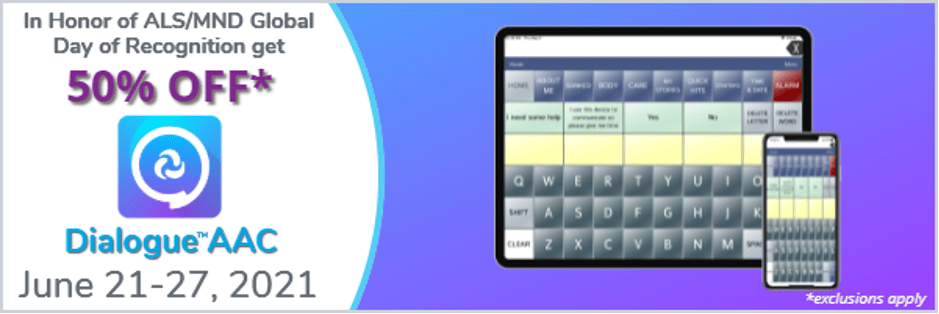 graphic of Dialogue AAC screen with dates of sale