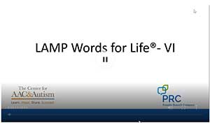 screenshot of lamp words for life vi webinar
